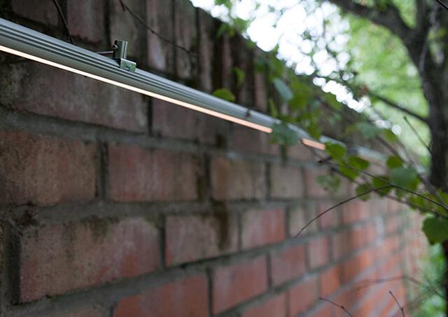 Độc đáo chiếu sáng ngoại thất với thanh nhôm đèn LED
