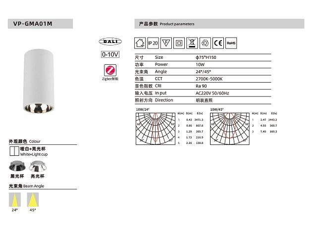 Đèn bơ LED AP-GMA01M 10W
