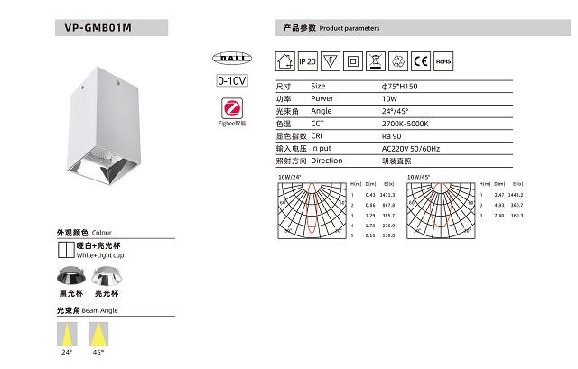 Đèn bơ LED AP-GMB01M 10W